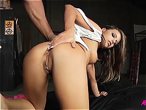 Alluring Adriana does her hottest to satisfy trio boners