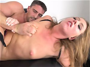 Maddy OReilly plunged total in her undergarments